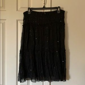 Sequin accented skirt